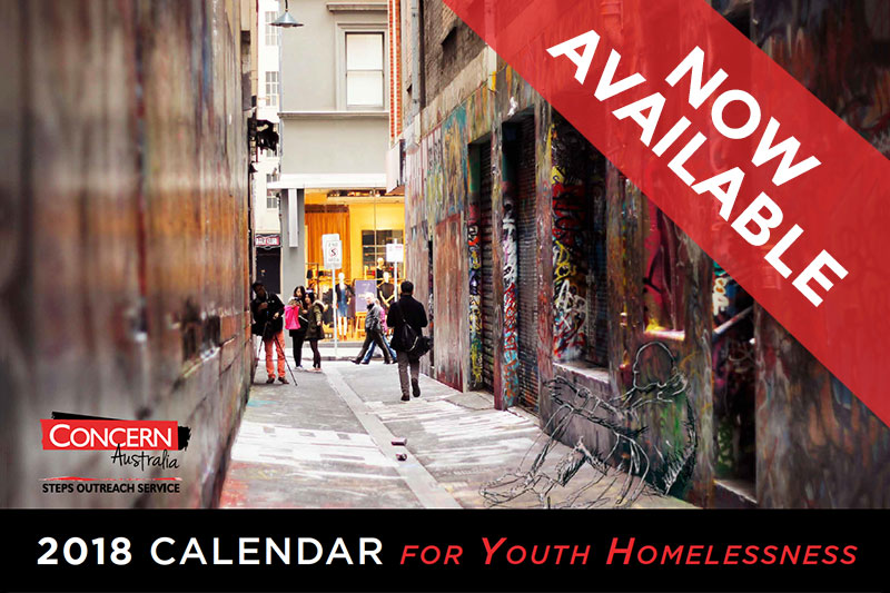 2018 Calendar for Youth Homelessness Now Available