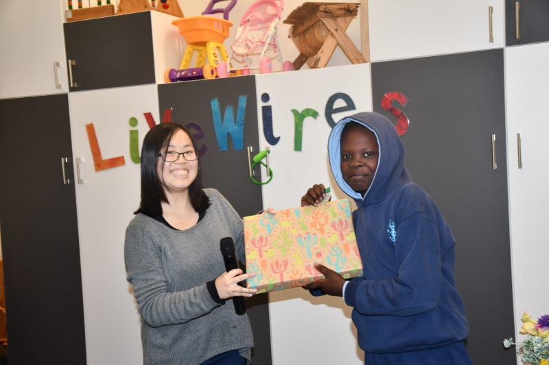 Livewires participants winning Lucky Door Prize