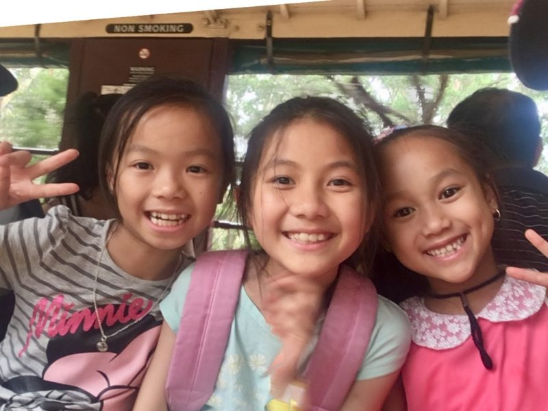 Children on Puffing Billy